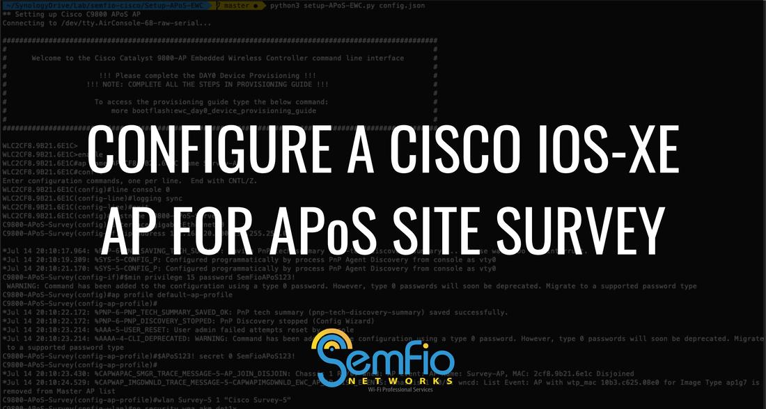 Configure a Cisco IOS-XE AP for an APoS Site Survey using Python